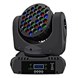 BETOPPER Stage Lights Moving Heads Disco Lights 36x3W RGBW LED DMX512 9/16CH DJ Lights Dance Lights Sound Activated Spot Lights for Party DJ Disco Show Club Wedding Bar Theater