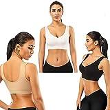 Jenn Bra, 3pcs No Steel Ring Hollow Breathable Extra-Elastic Seamless Comfort Thin Section Sports Bra, Women's Shockproof Yoga Running Plus Size Underwear (5XL)