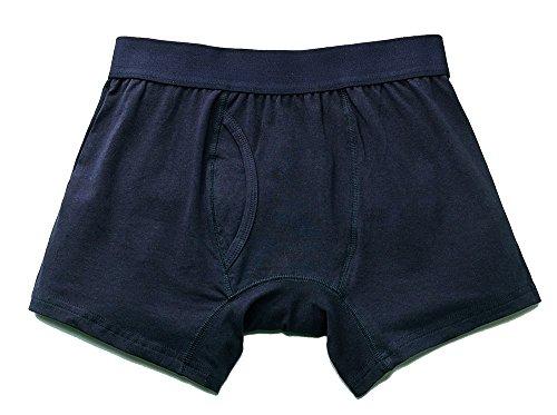 尿漏れパンツ (Mサイズ:ネイビー2枚組) 男性用 おねしょトランクス 介護用パンツ メンズ/『さわやかボクサーパンツ』【2枚組】
