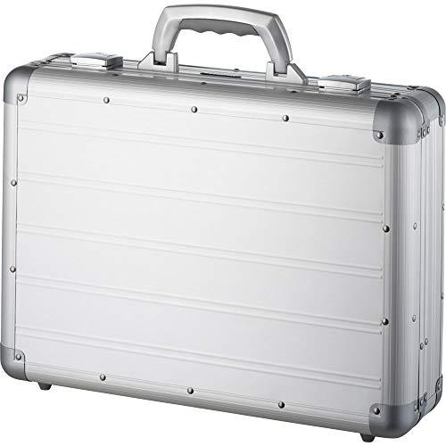 Alumaxx Attaché Laptopkoffer Venture, Aluminium, Circa 33, 5 × 45, 5 × 13, 5 cm Aktentasche, 46 cm, 17 L, Silber Matt