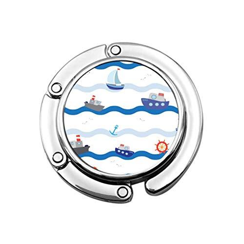 Nave da nave Fiume Oceano Trasporto Borse da donna Appendiabiti Gancio Portaborse Disegni unici Portaoggetti pieghevoli Portabiti portatili
