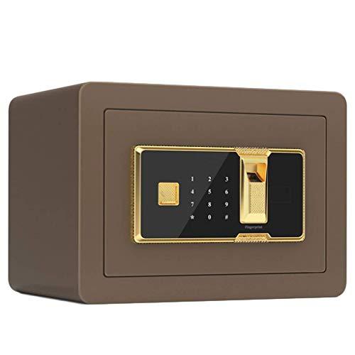 SENWEI Casseforti Casseforti di Sicurezza per 32 capacità di Funzionamento con Chiave Password Sistema antifurto Bullone di bloccaggio Solido da 30 mm 35 * 25 * 25 cm Cassaforte,Nero