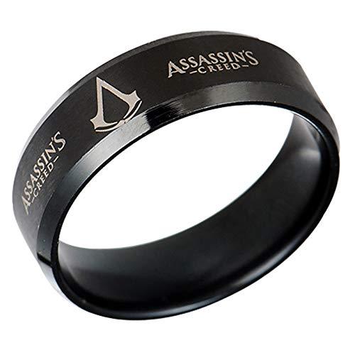 HFSKJWI Assassin'S Creed Ring,Anillo de Acero Inoxidable de Titanio y...