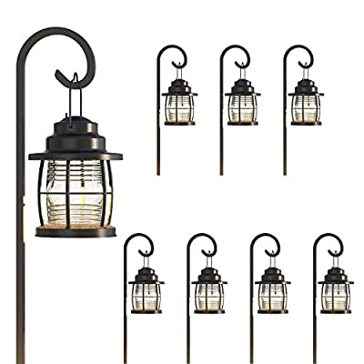 GOODSMANN Harbor Collection 8 Pack Landscape Lighting Flood Light 1.1 Watt LED Low Voltage Hanging Pathway Lights with Metal Stake 32 Lumens for Driveway Yard Lawn Garden 9920-4110-08