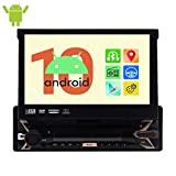 EinCar Car Stereo Android 10.0 OS Single Din DVD Player Car Radio with Bluetooth GPS Navigation Quad Core 1GB 32GB Car AM/FM Audio Radio with 7 Inch Capacitive Touch Screen 1080P WiFi Mirror Link