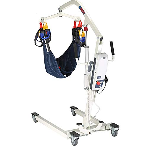 HYDDG Electric Patient Lift,Hospital Home Care Patient Lift Electric Foldable Hydraulic Body Lift, Assembling-Free with Low Base, 410Lb Weight Capacity