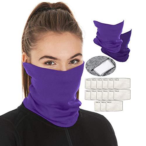 Scarf Bandanas Neck Gaiter Multi-Purpose Balaclava Headwear for Outdoor Sports (Purple)