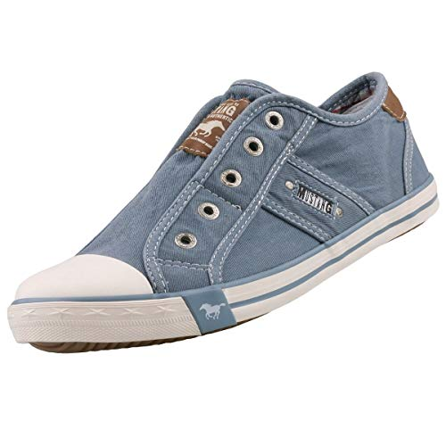 MUSTANG Damen 1099-401 Slip On Sneaker, Blau (Himmelblau 807), 38 EU