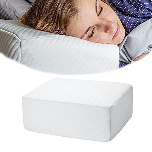Quzuer Almohada Cuadrada para Personas Que Duermen de Lado, Almohada Cuadrada de Espuma viscoelástica, Almohada ergonómica de Espuma viscoelástica para Cama (38 * 30 * 10cm)
