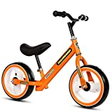Bicicletas de equilibrio Niños y niños pequeños 12 'Balance Bike Ajustable Asiento antideslizante Manillar No Pedal Stride Deporte Entrenamiento Caminar Equilibrar bicicletas para edades de 18 meses a