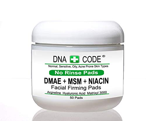 Anti-Aging-No Rinse-MAGIC DMAE+MSM+NIACIN Firming Pads, 100% Pure Hyaluronic Acid, Argireline, Matrixyl 3000