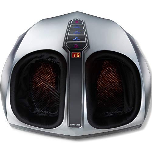 Belmint Shiatsu - Masajeador de pies con calor - Masajeador eléctrico de pies con terapia de masaje de amasado profundo y compresión de aire - Proporciona alivio para los músculos cansados y la fascitis plantar