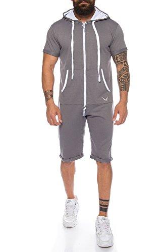 Raff & Taff heren eendelig full-body pak jumpsuit overall jogger | zomer sport vrije tijd korte training | M - XXL