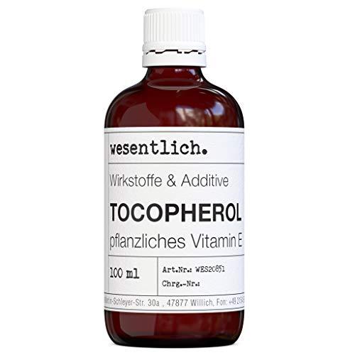 Tocopherol 100ml - Vitamin E, rein pflanzlich - Pflege für Haut, Haare, Nägel von wesentlich