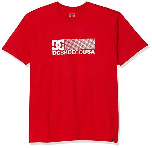 DC Herren Break Bounce Short Sleeve Tee Hemd, Racing Red, Klein