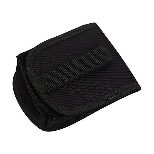 XINGJIJIJIA Alta Resistencia Duradera con escafandra Peso Bolsillo Titular de Plomo de la Placa Posterior de la Bolsa de 2 kg Cinturón Bolsa Paquete Excelente (Color : Black)