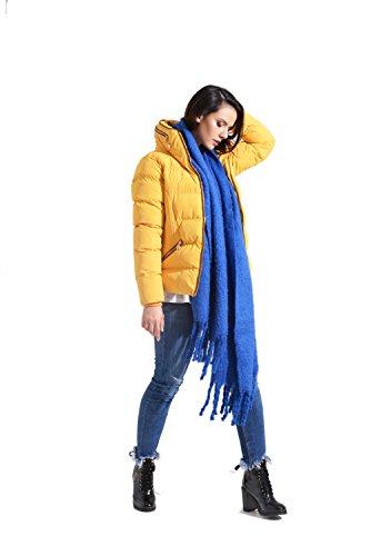 Houtskool Mode Vrouw Puffa Jas (01W17 Dahlia Mosterd/Geel)