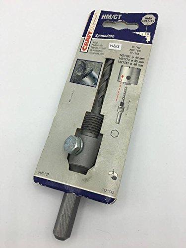 Craftomat 5427.737 Zentrierbohrer Spanndorn für Lochsäge Bohrkrone Sechskant Schaft