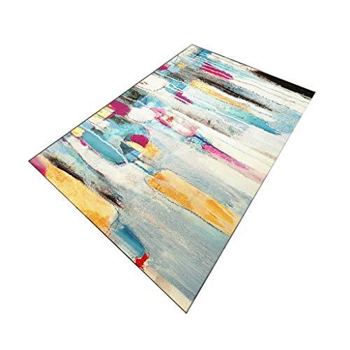 Home decoratie, tapijt in Scandinavische stijl voor woonkamer, eetkamer en slaapkamer, moderne slaapbank met korte zijde, rechthoekige stof met 9 kleuren en 5 maten, afmetingen: 120 × 160