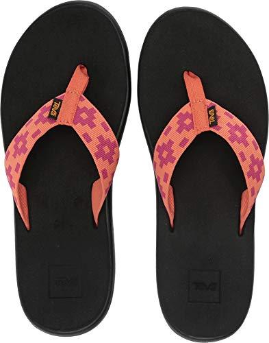 Teva Damen W VOYA FLIP Maya Check Flamingo, 41 EU