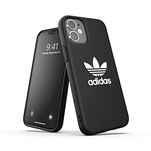 adidas Funda diseñada para iPhone 12 Mini 5.4, Carcasa a Prueba de caídas, Bordes elevados, Funda Original, Color Negro y Blanco