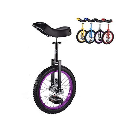 """Einrad 40,5 cm (16\"""") Rad Einrad, Robuste Felge Aus Aluminiumlegierung und Manganstahl Laufrad, für Anfänger Junge Mädchen Draussen Sport Reise (Color : Purple)"""
