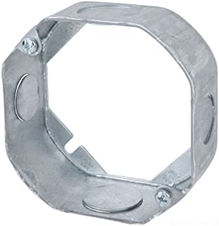 Steel City 55151-1/2-3/4 4-Inch Diameter 1-1/2-Inch Deep 15.8-Cubic Inch Pre-Galvanized Steel Octagon Box Extension Ring