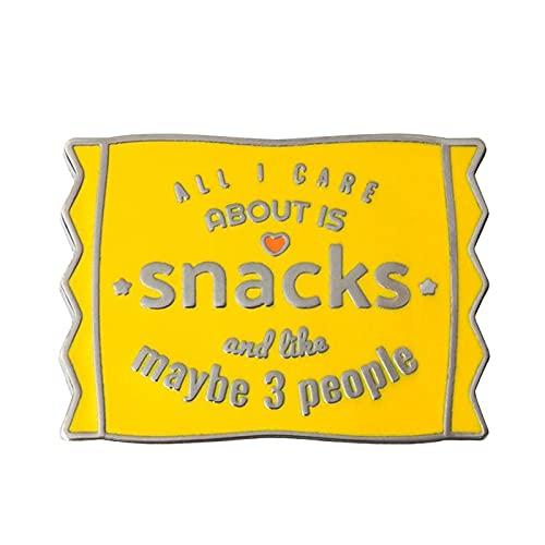 Alles, was mich interessiert, ist Snacks Brosche Introvertierte Feinschmecker Emaille Pin Life Attitude Abzeichen Junk Food Lovers Geschenk