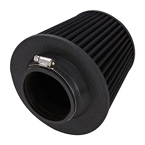 Filtro de Entrada de frío General Motors Filtro de Aire 3'3.5' Filtro de Ingesta en frío Kit de inducción de 76 mm / 89mm Accesorios de admisión Deportes Power Malla Cono (Color : 3.5 Inch Black)