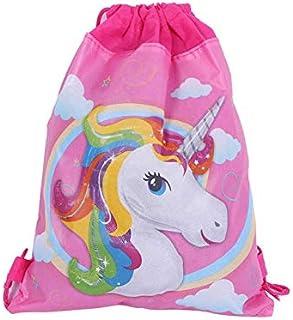 Cartoon unicorn nonwoven fabric drawstring bag