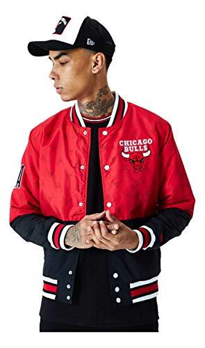 New Era Chicago Bulls NBA Bomber Jacket Black Red Varsity Jacket Collegejacke Men