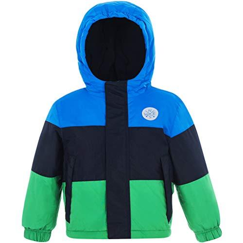 Waterdichte jas voor kinderen, jongens, winter, skimantel met capuchon, lange mouwen, sport, licht, ademend, warm, softshell, bedrukt, winddicht.