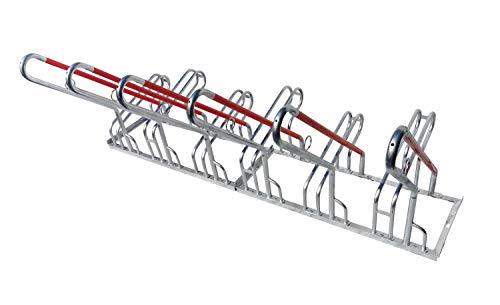 2x 6er Fahrradständer Reihenparker Anlehnparker Anlehnbügel B-Ware mit Diebstahlsicherung