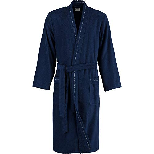 Cawö Home Bademantel Herren Kimono 4511 Navy - 133 4XL
