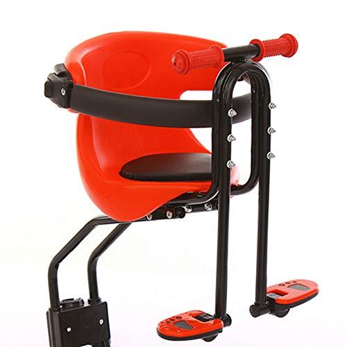 Aohuada - Asiento para bicicleta infantil de seguridad con pasamanos y pedal...
