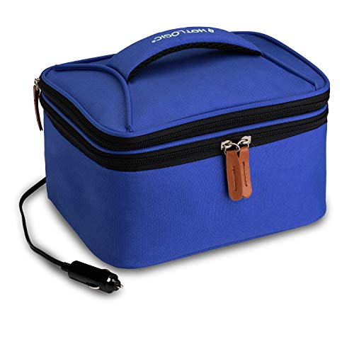 HotLogic 16801174-BL Food Warming Tote Lunch Bag Plus 12V, Blue
