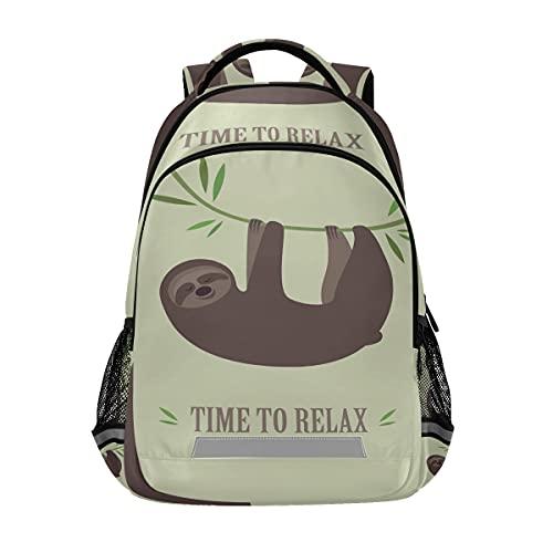 Mnsruu - Zaino da scuola per ragazzi e ragazze elementari medie, per studenti Koala Sloths, per bambini e asilo, con clip sul petto