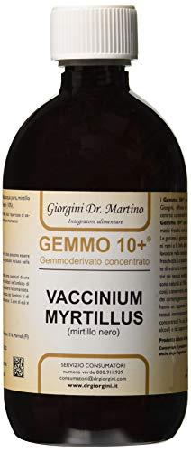 Dr. Giorgini Integratore Alimentare, Mirtillo Nero Gemmoderivato Concentrato Liquido Analcoolico - 500 ml