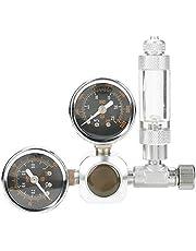 Zetiling Regulador de CO2 para acuarios, Pantalla Grande de Doble Calibre Tiene regulador de descompresión Regulador Válvula de Control Acuario(# 2)