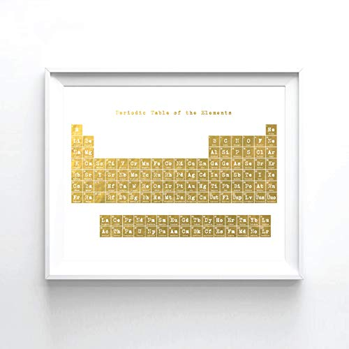 Gold Foil Periodic Table Art