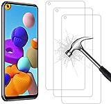 AHABIPERS Pellicola Protettiva per Samsung Galaxy A21S Vetro Temperato, 9H Durezza Ultra Resistente [Anti-Graffo/Olio/Impronta/] HD Chiaro Screen Protector per Samsung A21S- 3 Pezzi…