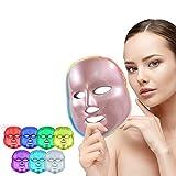 WQU LED Light Therapy LED Maschera luminothérapie LMask per viso e collo/Maschera facciale a LED per un ringiovanimento della pelle sano