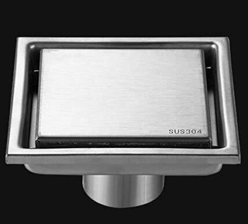 HTBYTXZ 10cm/11cm 304 Roestvrijstaal Vierkant Badkamer Accessoires Onzichtbare Vloerafvoer Tegel Invoegen Douche Afvoer Fast Drainage