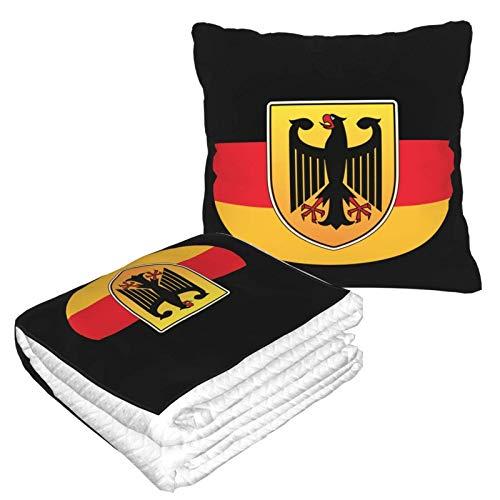 Deutschland Deutschland Deutschland 2 in 1 Premium Weich Warm Reise Wurfdecke Flugzeug Plüsch Nackenkissen für Schlafen Wurfset