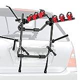 WALMANN Bike Trunk Mount 3-Bike Car Carrier Rack for Auto-Mobile Bicycle Rack Fits Most Cars, Sedans, Hatchbacks, Minivans and SUVs Trunk Bike Rack(Not for Children's Bikes/Women's Bikes)
