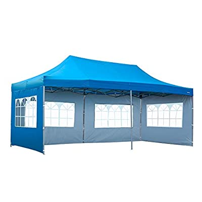KOOLWOOM 10x20 FT Pop up Canopy Carport,Party Tent Folding Heavy Duty Gazebo with Removable Sidewalls and Wheeled Bag Waterproof