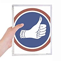 良いタイバンコクの親指の王国 硬質プラスチックルーズリーフノートノート