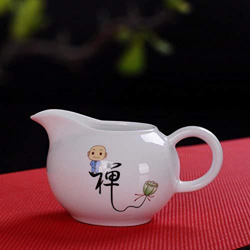 HuXwei Teaset en Porcelaine Blanche Petit Moine Kung Fu Chinois en Céramique Café Pichet À Thé-Chan (Zen)