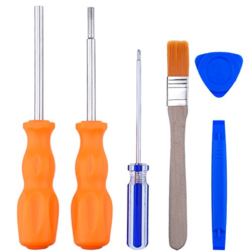 Blulu 3.8 mm 4.5 mm Security Bit Screwdriver Tool with 2.5 Trigram Screwdriver for NES SNES N64 Cartridges Systems