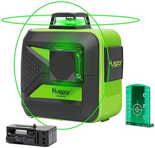 Huepar laser level Self-Leveling 2x360-Degree, lithium battery ,Cross Line Laser Level with...